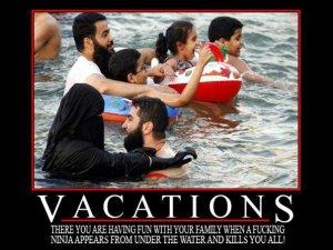 vacations ninja appears